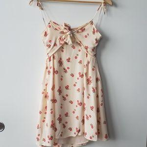 For love and lemons yellow cherry minidress